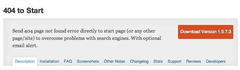 404-to-start plugin